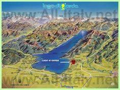 Туристическая карта озера Гарда