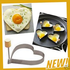 New Heart Shape Fried Egg Ring Pancake Crepe Fry Frying Mold Kitchen Gadget Tool