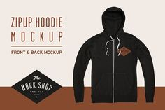 Zipup Hoodie Mockup by The Mock Shop on @creativemarket