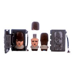 Han Solo MIMOBOT | StarWars.com - Han Solo flash drive with carbonite storage case