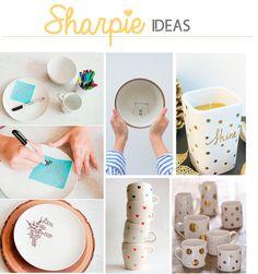 Customización de tazas con rotulador Sharpie