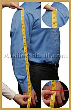 Your Measurements - How to Measure Mens Suits - Dress Shirts - Sport Jackets