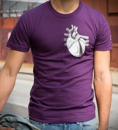 The heart of rugby! $31.50 - color looks great on both men and women. #heart #rugby #bakline