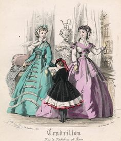October fashions, 1865 France, Cendrillon  All these Cendrillon plates…just too fashin