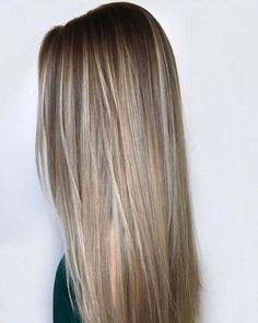 Sandy Beige braune Haare mit blonden Highlights