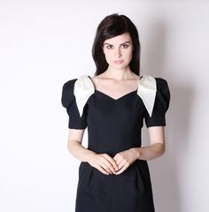 Black and White Cocktail Dress  Vintage Cocktail by aiseirigh, $112.00