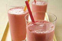 Banana Smoothie-  2cups milk 1ripe banana, cut up  1/2cup KOOL-AID Strawberry Flavor Sugar-Sweetened Soft Drink Mix  1cup ice cubes  Make It  PLACE all ingredients in blender container; cover.   BLEND on high speed 30 sec. or until thickened and smooth.   SERVE immediately.