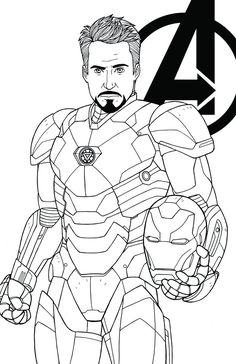 Avengers character thor coloring page download print for Tony stark coloring pages