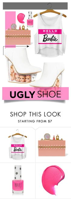 """""""Ugly shoes--- I'm a Barbie girl. In a Barbie world"""" by tanyaf1 ❤ liked on Polyvore featuring Charlotte Olympia and Topshop"""