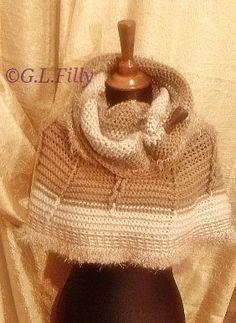 Modello - mantella in lana fatto a mano - Castagna, by Fantasia e Manualità - Glfilly, 5,00 € su misshobby.com