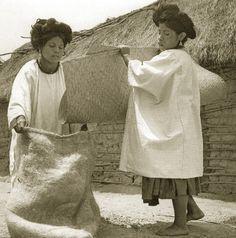 """Quizá el Día de las Madres: """"Mujeres recogiendo café, 1956"""", fotografía de Juan Rulfo antologada en el libro-catálogo Juan Rulfo: Oaxaca (FJR/RM, 2009)."""