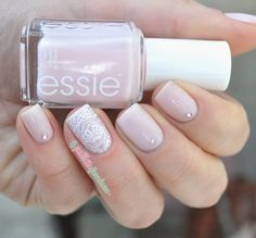 Essie Tying The Knotie from the Bridal collection 2015 ; Essie Blanc ; Moyou London Bridal plate ; 5/5/15