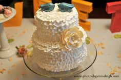 Wedding cake topperLove birds mr and mrs  READY TO SHIP by SkyeArt, $26.00