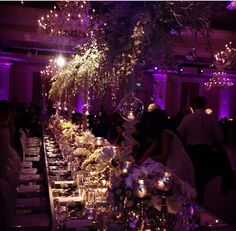 Purple and gold wedding reception over the top...done right