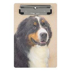 #Bernese Mountain Dog 2 Mini Clipboard - #bernese #mountain #dog #puppy #dog #dogs #pet #pets #cute #bernesemountaindog