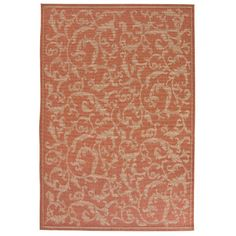 Charlton Home Wilbourn All Over Ivy Terracota Indoor/Outdoor Area Rug Rug Size: