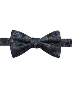 Ryan Seacrest Distinction Men's Trent Floral Pre-Tied Silk Bow Tie, Created for Macy's - Black