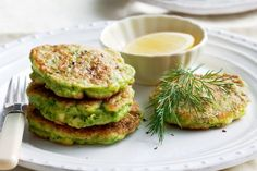 Pea & haloumi fritters - I will change the haloumi to feta next time, because you can't taste it.