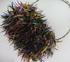 Spiky Multicoloured Funky Barrel Bag by Suzie Blue