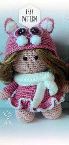 Amigurumi Doll Body Pattern, Crochet Mini Amigurumi Doll, Little ... | 494x236