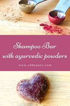 DIY Shampoo bar with Ayurvedic powders. How to balance body and mind with DIY beauty products. How to use Shikakai and Hibiscus powders. Soap Nuts Shampoo, Diy Shampoo, Homemade Shampoo, Solid Shampoo, Natural Shampoo, Shampoo Bar, Natural Hair, Shikakai Shampoo, Ayurvedic Soap