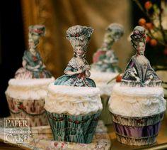 Marie Antoinette cupcake toppers - Paper Scissors Cake