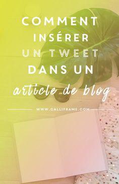 Cet article va vous expliquer la démarche à suivre pour intégrer l'un de vos tweets ou celui de quelqu'un dans un de vos articles sur votre blog.