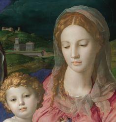 Bronzino c. 1545-1546  Holy Family with Saint Anne (detail)