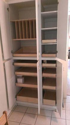 Ideas for kitchen corner cabinet pantry drawers Kitchen Pantry Design, Kitchen Pantry Cabinets, Kitchen Corner, Kitchen Redo, Kitchen Organization, Kitchen Remodel, Organizing, Organization Ideas, Storage Ideas