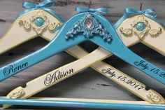 Hangers Bride and Bridesmaid Turquoise Stone by InspirellaDesign