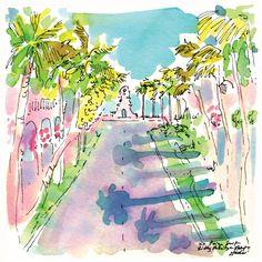 A postcard from the print designers via Palm Beach! #lilly5x5 #printspiration