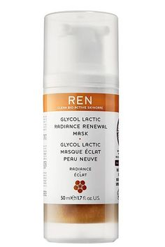 """Combination SkinSplurge:""""A moisturizing mask with glycolic acid will help balance [combination] skin,"""" says Dr. Tanzi. Ren's renewal mask (with lactic, citric, and glycolic acids) multitasks by brightening skin, fading hyperpigmentation, minimizing the appearance of pores, and softening fine lines. #refinery29 http://www.refinery29.com/detox-masks-for-skin#slide-5"""