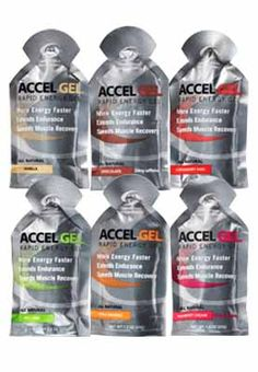 All Natural Accel Gel designed to deliver rapid energy to your working muscles-taste great too!