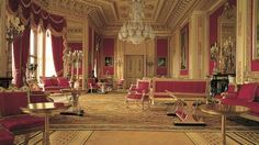 George IV's private apartments at Windsor Castle. Considered to be among the greatest royal commissions and the finest late Georgian interiors in the country, these magnificent rooms (known as the Semi-State Rooms) are now used by The Queen for official entertaining