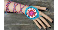 Mandala Dreamcatcher Wrap Bracelet - free crochet pattern by Stephanie Pokorny…