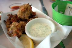 Irish Clam Fritters with a Homemade Tartar Sauce