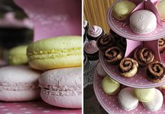 English Tea Party. Love my French Macrons!