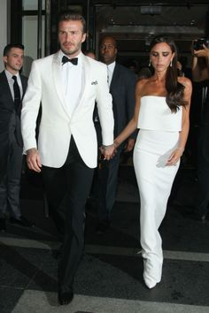 David and Victoria Beckham Met Gala 2014