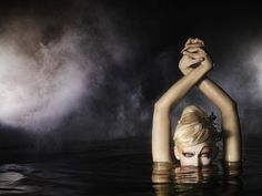 ANTM-- love this water shoot.... her arms look like swans to me