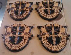 Hey, I found this really awesome Etsy listing at https://www.etsy.com/listing/219107559/special-forces-crest-carved-on-red-oak