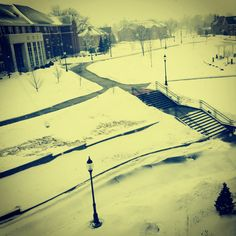 Monmouth college campus in the winter.