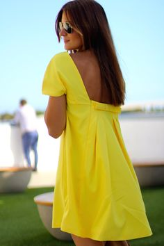 Discover this look wearing Sheinside Dresses, Mustang Flats - YELLOW BOW by marianelahd styled for Eclectic, Everyday in the Summer Cute Summer Dresses, Simple Dresses, Nice Dresses, Casual Dresses, Short Dresses, Boho Fashion, Fashion Dresses, Backless Maxi Dresses, Bikini Fitness