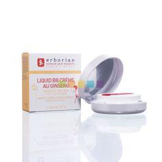 Crème die de teint sublimeert en de huid onmiddellijk hydrateert. Erborian Liquid BB Crème met Ginseng Doré te verkrijgen bij Pharmamarket.be, jouw online apotheek.