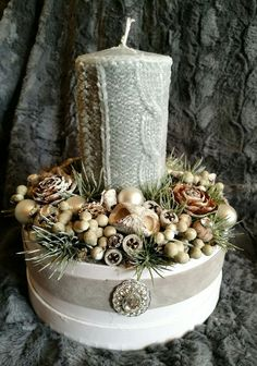 Yule, Winter Christmas, Christmas Time, Christmas Candle Holders, Christmas Decorations, Table Decorations, Flower Boxes, Christmas Projects, Advent