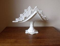 Westmoreland Banana Stand - Milk Glass - Ring and Petal Pattern - Center Piece