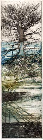 Description: Intaglio photopolymer plate over a collagraph Champs, Collagraph, Beach Scenes, Landscape Photos, New Art, Printmaking, Nature, Art Gallery, Illustration Art