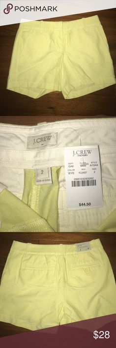 J. Crew Size 2 Oxford 5inch shorts Never worn. New with tags. J. Crew Shorts