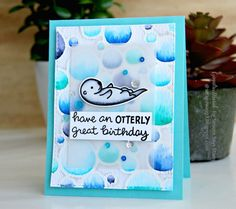Aww! Who doesn't love otters?? Gayatri for the Simon Says Stamp Wednesday Challenge blog.