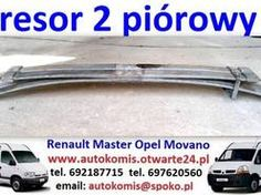 Resor podwójna laga 2 pióra resory Renault Master 1998-10