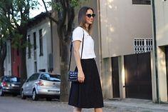 Ione Omena - Zara Tshirt, Zara Skirt, Zara Bag - Lace Midi Skirt